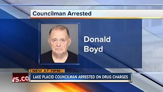 Lake Placid councilman arrested on drug charges - Video