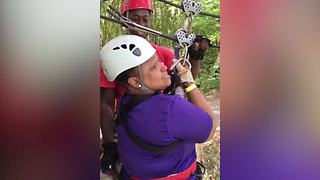 First Time Zipline Freak Out