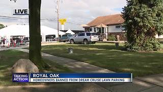 Homeowners banned from Dream Cruise lawn parking - Video