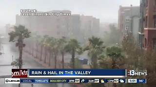 Rain and hail in Las Vegas valley - Video