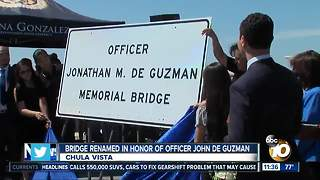 Bridge over I-805 in Chula Vista dedicated to fallen officer - Video