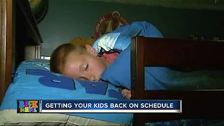 How to adjust your child's sleep schedule before heading back to school - Video