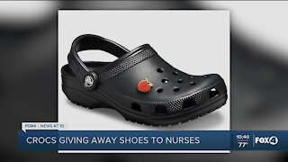 Crocs donating shoes to healthcare workers