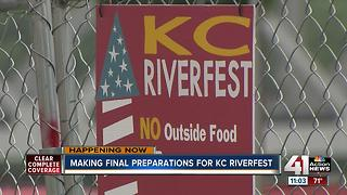 Making final preperations for KC Riverfest - Video