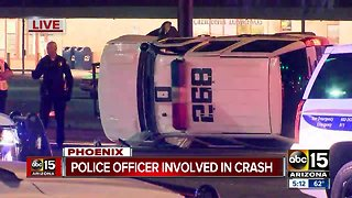 Police car involved in rollover accident near 27th Avenue and Camelback