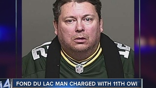 Fond du Lac man faces 11th drunken driving charge - Video