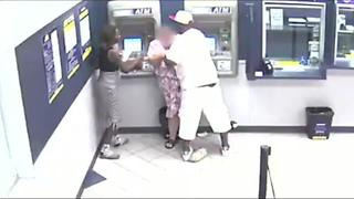 Police searching for man who robbed woman at Amscot ATM