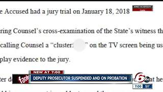 Marion County deputy proseuctor suspended for 'egregious' courtroom conduct - Video