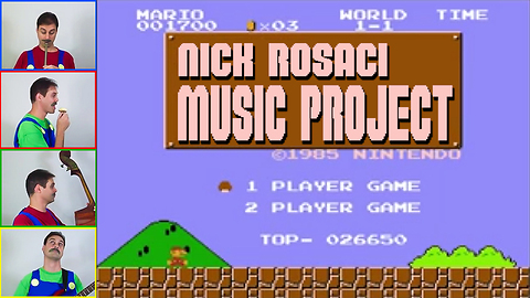 One-man band brilliantly covers Super Mario theme