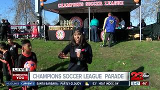Champions Soccer League hosts ceremony parade for 1600 players - Video