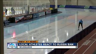Wisconsin Olympic athletes react to Russian ban - Video