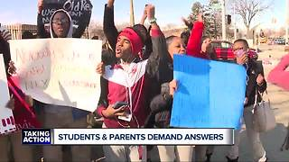 Students and parents demand answers after teachers placed on leave - Video