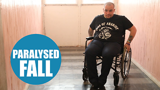 Dad left paralysed after cracking his head on a pavement - Video
