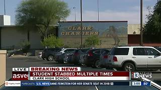 Stabbing at Clark High School: female student stabbed by another female student - Video