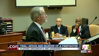 Closing arguments in arson, murder trial over Hamilton firefighter's death - Video