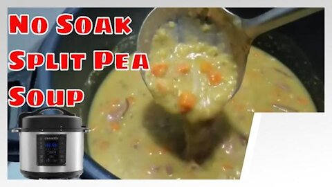 Crock-Pot Express No Soak Ham and Split Pea Soup