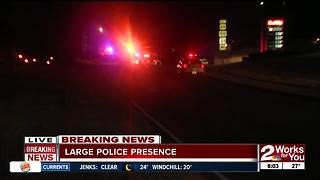 TPD searching for armed person from pursuit - Video