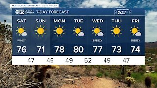 MOST ACCURATE FORECAST: Warm, but windy start to the weekend