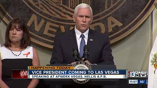 Vice President Mike Pence visits Las Vegas - Video