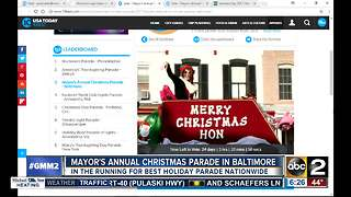 Baltimore parade in the running for best in U.S. - Video