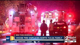 North Tulsa family displaced after house fire - Video