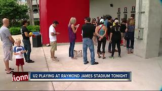 Fans travel from around the world to see U2 in Tampa - Video