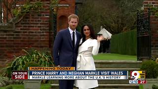 Prince Harry and Meghan Markle visit Wales - Video