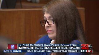 Closing arguments are underway as the Leslie Chance trial nears an end