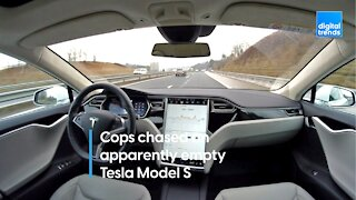 Canadian cops chased a Tesla Model S that appeared to have no one in it!