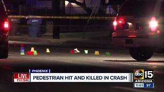 Pedestrian killed after being hit by car in Phoenix - Video
