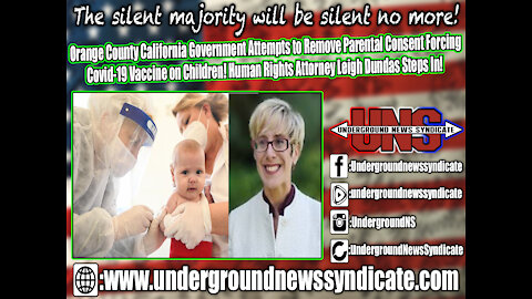 Ca Government Attempts to Remove Parental Consent Forcing Covid-19 Vaccine on Children!
