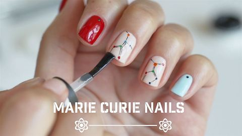 Cool Nail Style Fully Inspired By Marie Curie