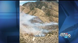 50-acre fire on the west side of the Huachucas - Video
