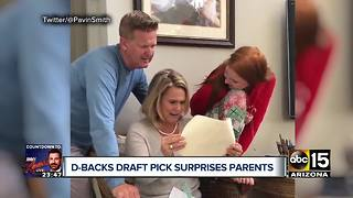 Diamondback's draft pick surprises parents by paying mortgage - Video