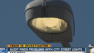 Audit finds problems with San Diego's street lights - Video