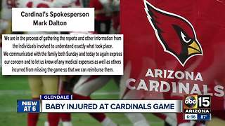 Baby injured at Cardinals game, family wants team to cover trip - Video