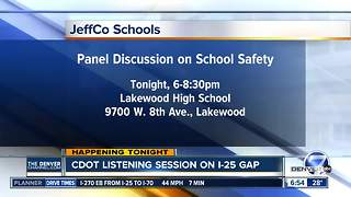 Jeffco Schools  holds panel discussion on school safety - Video