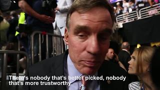 Mark Warner on Tim Kaine - Video