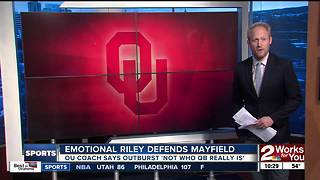 Baker Mayfield won't start, loses captaincy for West Virginia game - Video