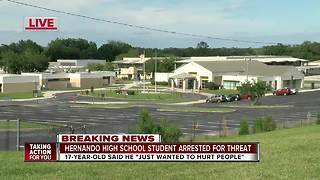Student arrested for threatening to shoot up Hernando High School