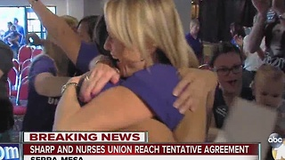 Sharp and Nurses Union reach tentative agreement - Video