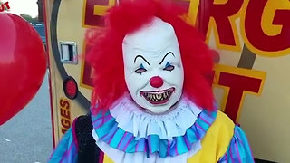 Scary Clowns Deliver Doughnuts - Video