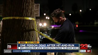 One person dead after hit-and-run, BPD looking for white sedan with damage to driver's side