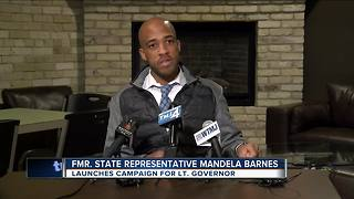 Mandela Barnes launches campaign for Lt. Governor - Video