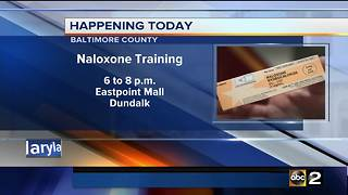 Naloxone training in Baltimore County Wednesday - Video