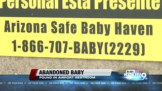 Baby abandoned at Tucson International - Video