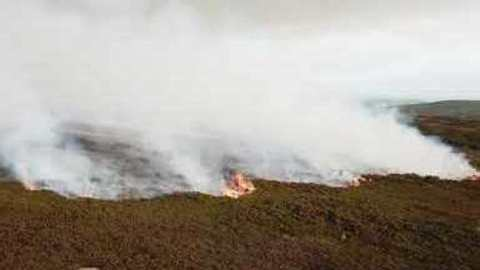 Drone Footage Shows Early Stages of Saddleworth Moor Fire