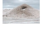 Sand Forms Mini 'Volcano' on Indiana Beach - Video