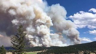 Timelapse Shows Billowing Smoke from Clinton Wildfire - Video