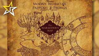 "Harry Potter Fan Debuts Glow In The Dark ""Marauder's Map"" Tattoo - Video"